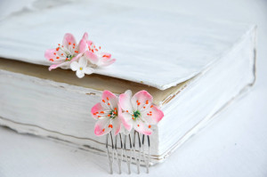 Small flowers hair comb