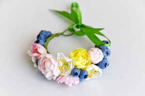 Rustic wedding bracelet
