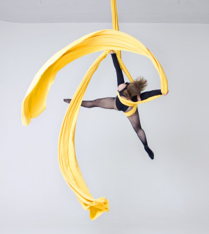 Middle Stretch Aerial Silks and Aerial Hardware Kits, Tissue, Fabric Full Set, Hardware