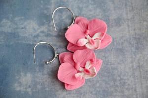 Phalaenopsis earrings,  orchid earrings