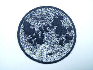 Full Moon Patch - Moon phases pin - Bag accessories - Patches for Jackets - Iron On Patch - Embriodered patch