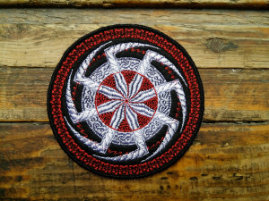 Kolovrat patch - Viking Symbol - Patches for Jackets - Iron On Patch - Embroidered patch
