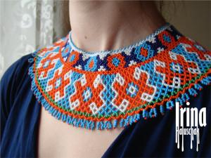 Ukraine jewelry Beaded necklace Sylyanka Seed bead collar Bead gerdan Traditional ukrainian woman jewelry Vyshyvanka necklace Boho jewelry