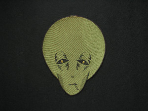 Tired alien patch - Smoking Alien - Space Patch - Bag accessories - Patches for Jackets - Iron On Patch - Embroidered Patch - NASA
