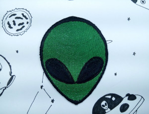 Alien patch - Space Patch - NASA - Bag accessories - Patches for Jackets  - Iron On Patch - Embriodered patch