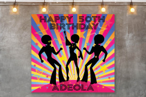 70s Disco theme backdrop, 60s theme Backdrop, 70s theme Birthday Backdrop, Afro Disco Backdrop, Disco style decorations, Printable Download