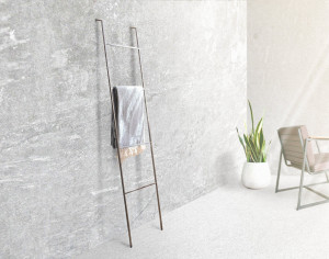Blanket Display Skinny Ladder storage with support // Minimalist functional decor // free shipping