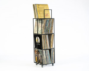 LP storage // 4 deck Album Сrate Сart // container holds around 280 LP records // free shipping