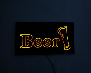 Man cave Wall Light Neon Sign style BEER LED technology // Wall Art // Universal current adapter // Free shipping