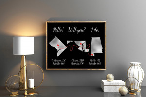 Hello Will you I do, we met we engaged we married, 1st anniversary gift for husband, DIGITAL FILE ONLY