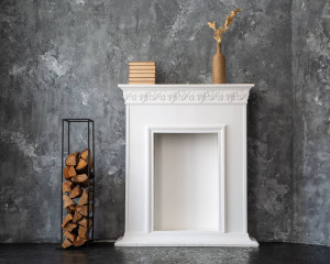 Log holder // Slim Firewood Storage for indoors or outdoors // Hand welded from durable iron