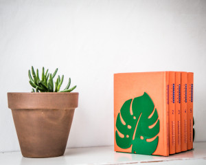 Metal bookends Monstera // Botanica series of bookends //anything meaningful to you //free shipping