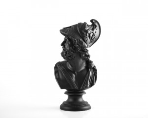 Black Sculpture Pericles Ceramic Plaster Bust // Trendy Decor for Modern Home // Housewarming gift // Free Shipping Worldwide