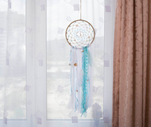 Boho Dream catcher Sea Shells Dreamcatcher Feathers Wall hanging Wall decor Nursery Decor Wedding decor Wall Art with feathers gift for her