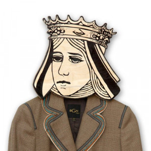 Hook - hanger - mask - You are my Queen - humorous and funky article for your creative home or office