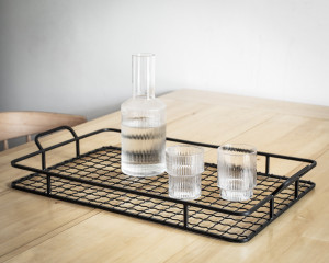 Black Metal serving tray // minimalist style / industrial / loft perfect / Nordic accessory