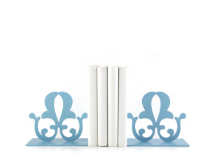 Metal Bookends French Flower Functional Shelf Decor Organizer FREE  SHIPPING