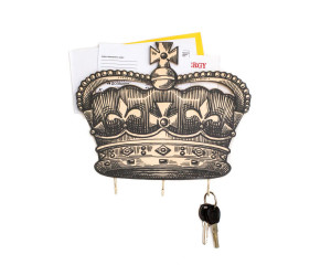 30% OFF SALE Key Hook - Wall Organizer - Letter Shelf - Crown at your service -  for your keys and letters