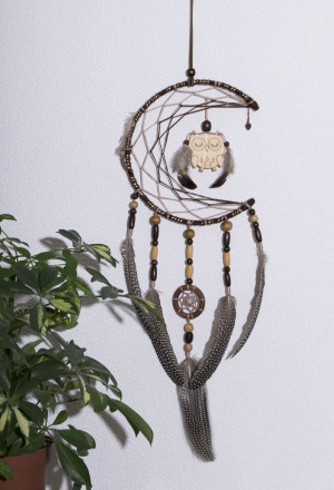 Dream Catcher Nursery decor Baby Mobile Dreamcatcher woodland Owl Gift Mobile owl Boho accessories Boho Mobile Crib Mobile Baby Girl Boy