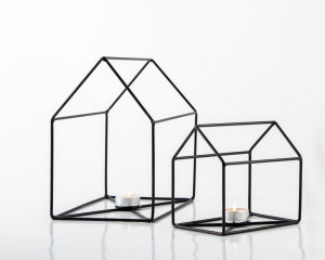 Wirehouse Candle Holders // Lanterns // Modern Farmhouse decor // Nordic Style Window display // FREE SHIPPING