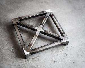 Metal trivet hand welded  // Raw metal // stylish housewarming gift // Free Shipping Worldwide