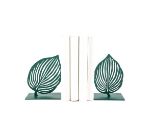 Metal Bookends Green Leaves by Atelier Article // FREE  SHIPPING