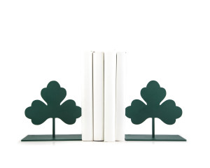 Metal Bookends - Clover Leaf - Irish themed decorative functional shelf decor // FREE  SHIPPING