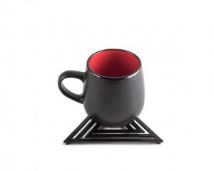 Metal trivet Geometry design Triangle //Bauhaus inspired // stylish housewarming gift // Free Shipping Worldwide