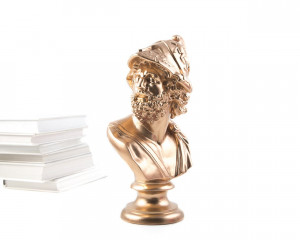 Pericles Ceramic Plaster Bust Sculpture Gold // Trendy Decor for Modern Home // Housewarming gift // Free Shipping Worldwide