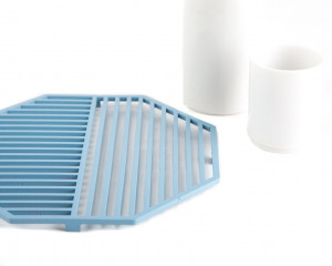 Metal trivet Geometry design Рexagone // stylish housewarming gift // Free Shipping Worldwide