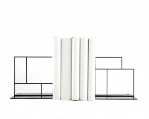 Metal Bookends - Rectangulars - // Bauhaus inspired // Geometry based unique architectural book holders for stylish home // FREE  SHIPPING