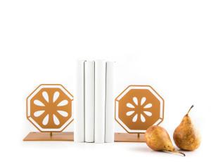 Metal Bookends Pear Cut // Functional Shelf Decor Organizer // FREE  SHIPPING
