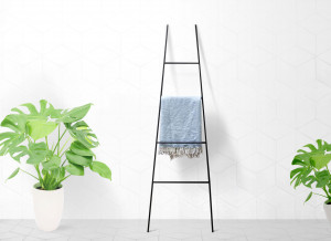 Blanket Display Skinny Ladder storage // Pyramid type // Velvety Black // Minimalistic functional decor // free shipping
