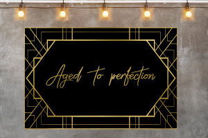 Aged to perfection sign, Birthday Backdrop, Gold and black backdrop, Aged to perfection backdrop, Back and gold banner, DIGITAL DOWNLOADFILE