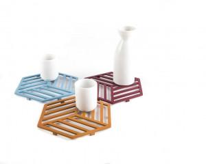 Metal trivet Geometry design Circle //Bauhaus inspired // stylish housewarming gift // Free Shipping Worldwide