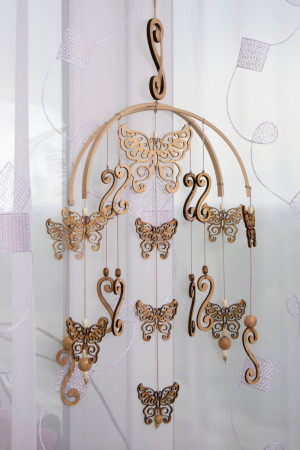 Baby Mobile Dreamcatcher woodland Butterfly Mobiles Dream Catcher Nursery decor Mobile Butterfly  Dream catchers Crib Mobile Baby Girl Boy