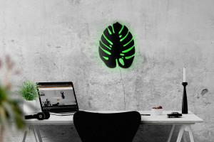 Wall light Monstera led technology // Wall Art // Universal current adapter // Free shipping