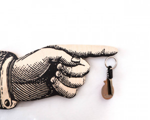Magnet Key Hook - Key Wall Organizer - on a magnet - Hand  - whimsical solution for your keys storage