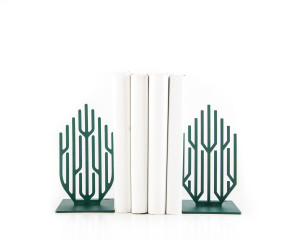 Metal Bookends Green Growth Functional Shelf Decor Organizer FREE  SHIPPING