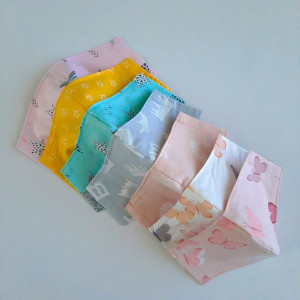 Cloth face mask , Face mask washable , 3-4-5 Pack, 2 layers cotton, Fabric masks for kids and adults