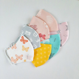 Homemade face mask washable, Cloth face mask , 3-4-5 Pack, 2 layers cotton, Fabric masks for kids and adults