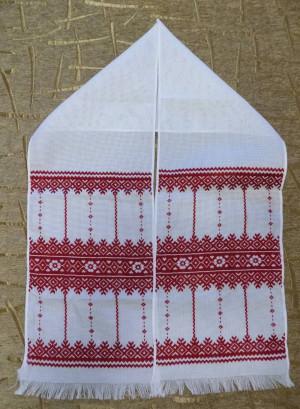 Hand embroidered Ukrainian embroidery towel RUSHNYK RUSHNIK red color new