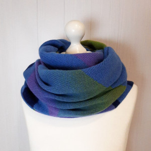 Boho knit scarf multicolored, oversized winter wrap, best gift for mother