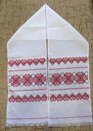 Hand embroidered RUSHNYK RUSHNIK Ukrainian towel from Western Ukraine cross stitch