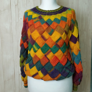 Knit sweater women  Gift for your beloved Warm cozy sweater multicolor