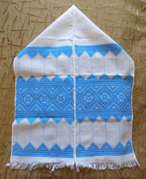 Hand embroidered new Ukrainian RUSHNYK RUSHNIK decoration towel blue color