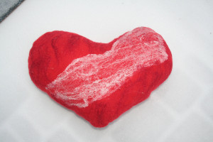 Felted heart, Gift for a loved one, Felt pillow