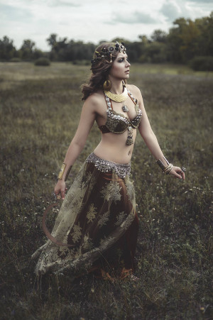 Tribal belly dance costume, tribal fusion costume, belly dance costume - Made to order only
