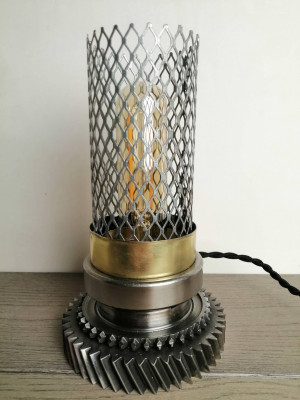 Industrial/steampunk/loft style desk night lamp