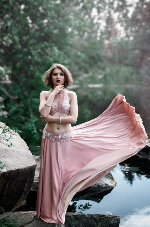 Tribal fusion costume, bellydance fusion costume (bra + skirt) - custom order